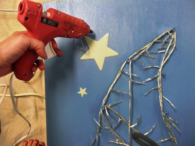 Original Starry-Night-Headboard-hot-glue-stars s4x3 lead