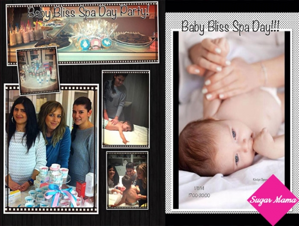 Baby bliss spa day party