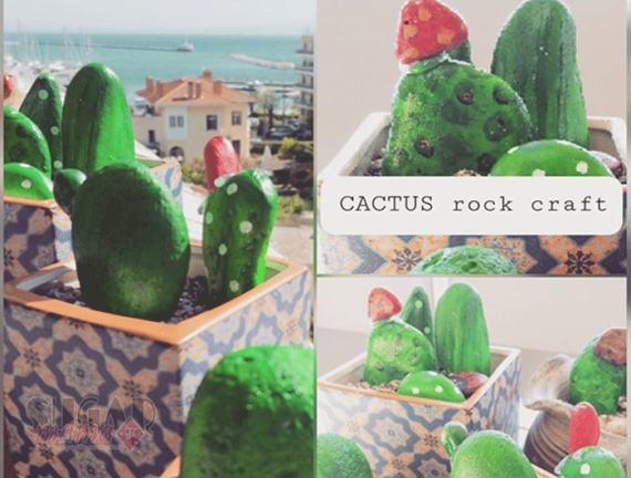 Diy Rock Cactus Craft